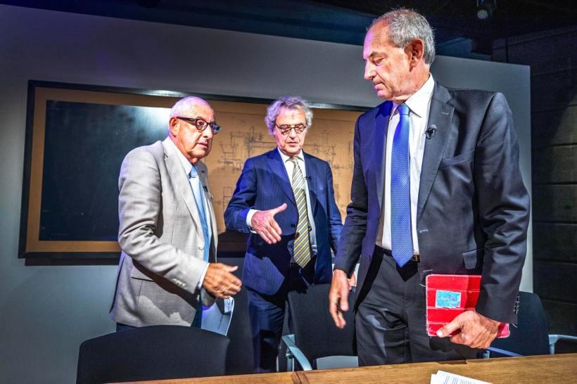 Salo Muller, Roger van Boxtel en Job Cohen © Raymond Rutting gebruikt door de Volkskrant 27 juni 2019